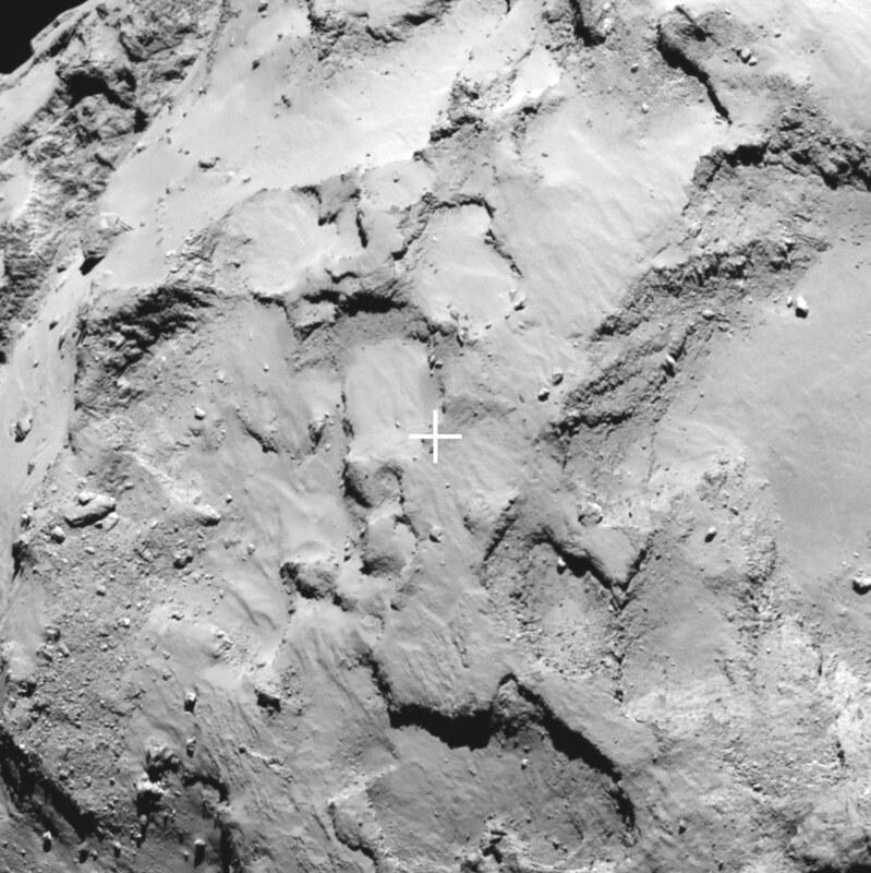 Philae's primary landing site close-up