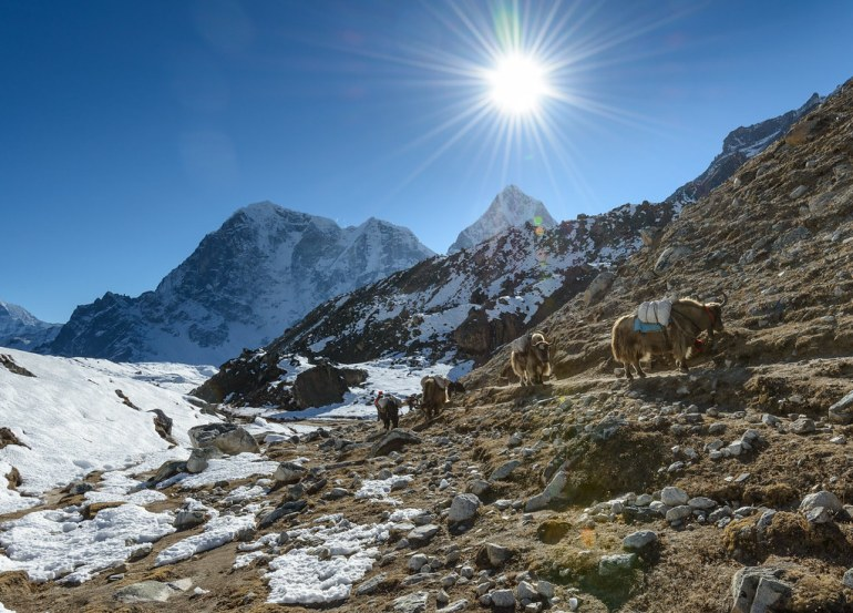 Going back from Everest Base Camp