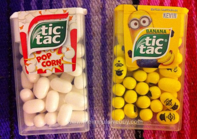 Tic Tac Popcorn and Banana Tic Tac (Poland)