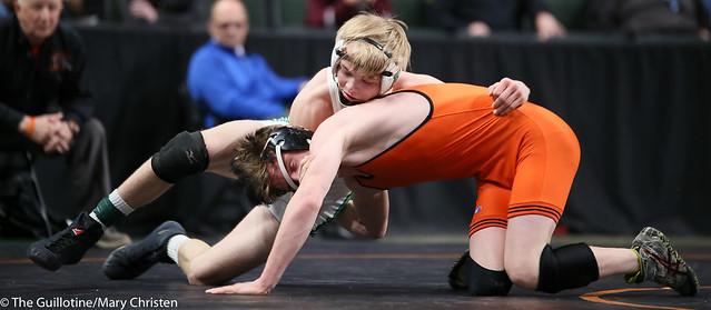 126AA - 5th Place Match - Josh Holm (Grand Rapids) 26-7 won by decision over Ezra Kaping (Litchfield) 39-9 (Dec 5-3)