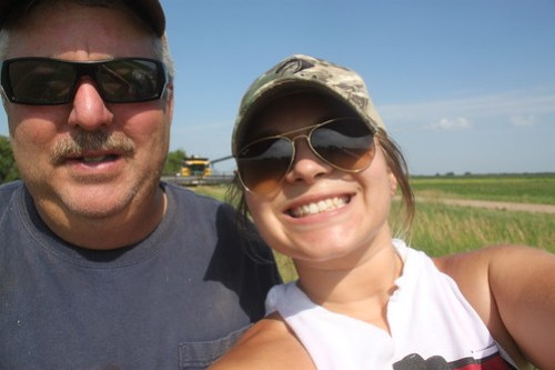 Dad and I, out in the field. Oh how he loves taking pictures...