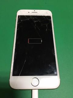 270_iPhone6のフロントパネルガラス割れ&バッテリー交換