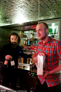 Een verraste en emotionele Nick Baeyens van Baar nam zijn prijs in ontvangst