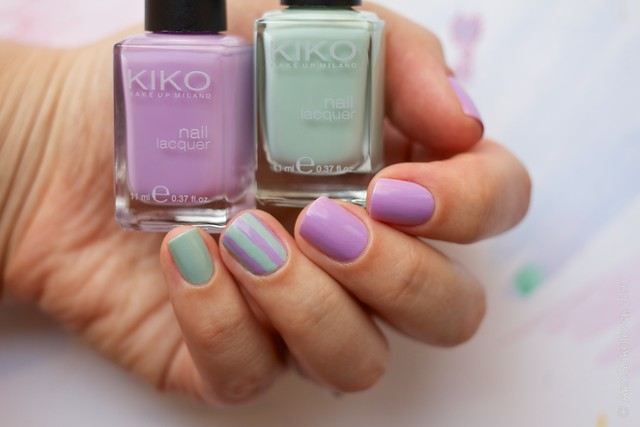 02 Kiko #345 Jade Green, Kiko #330 Lilac