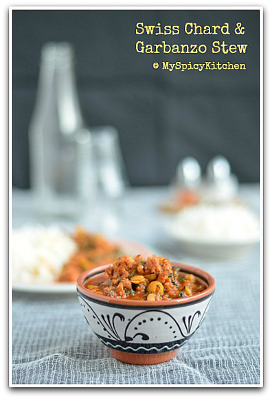 Garbanzo con Acelga, Peruvian Stew, Chorizo chickpeas stew, Peruvian Cuisine, Peruvian Food, Blogging Marathon, Around the world in 30 days with ABC cooking,