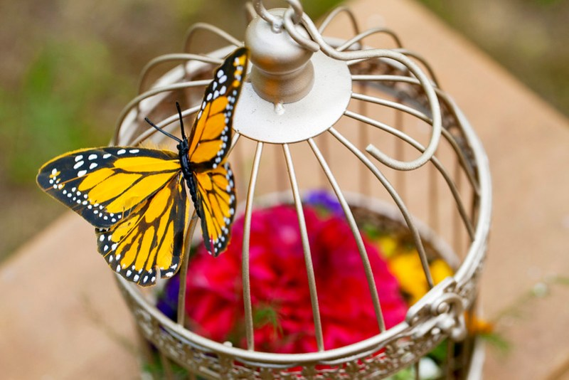 Mini birdcage bouquets via @offbeatbride