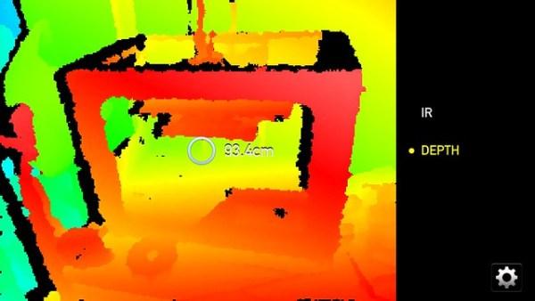 Structure 3D scanner scanning a 3D printer