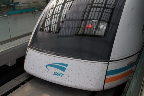 Plenty of bugs splattered on the maglev train!