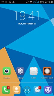 Home screen ของ Doogee Valencia