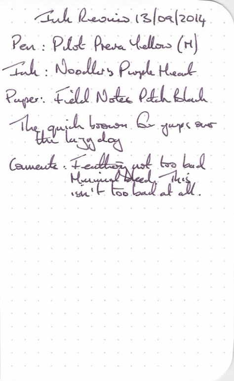Noodler's Purple Heart - Filed Notes - Ink Review