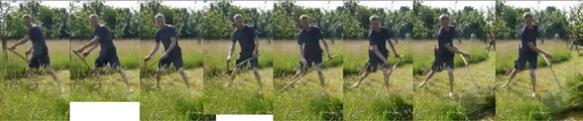 scythe mowing posture