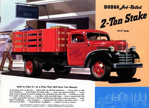 1941 Dodge Two Ton Stake Truck advertisement