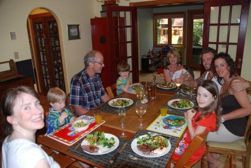 First family dinner