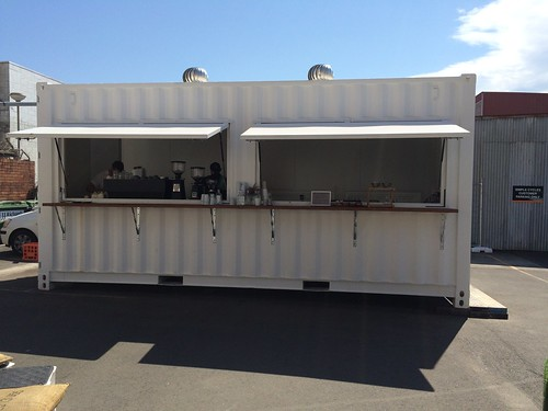 A shipping container with a difference - Sifters Espresso, Wollongong