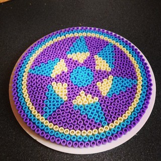 Josie has quite a knack for our #hamabeads #mandalas #craftysummer #craftmerrily
