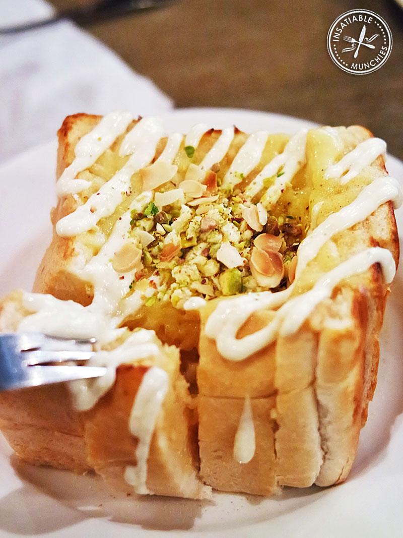 Garlic and Cheese Honey Toast