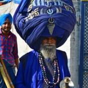 India - Punjab - Anandpur Sahib - Sikh With Giant Turban - 1
