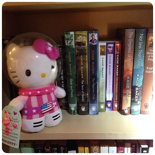Astronaut Hello Kitty's tour of lady SFF continues to the Kage Baker shelf.