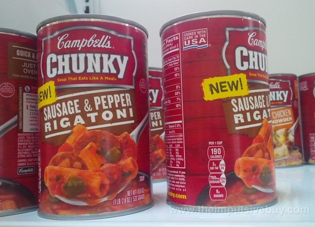 Campbell's Chunky Sausage & Pepper Rigatoni