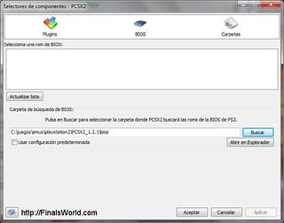 Configurar BIOS de PCSX2