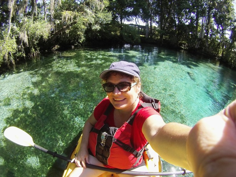 My #SpringsSelfie at Three Sisters Springs, Crystal River, Fla.