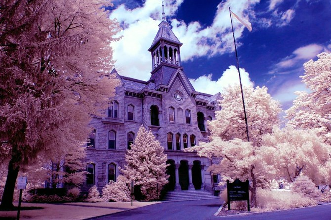 Old Main in False Color Infrared