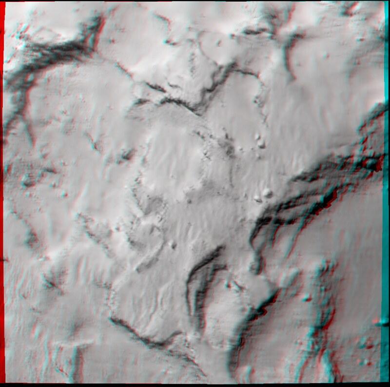 Philae's primary landing site in 3D