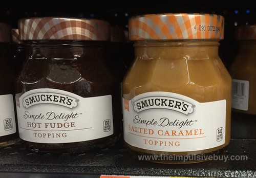 Smucker's Simple Delight Hot Fudge and Salted Caramel Topping