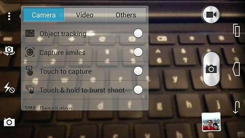 User Interface กล้องของ Huawei Ascend P7