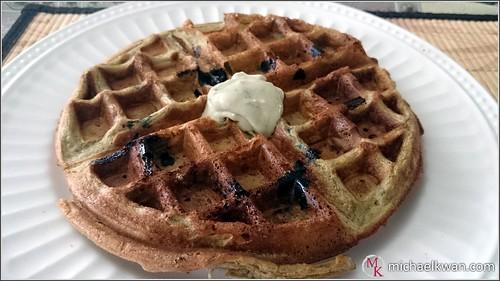 Matcha Blueberry Waffle