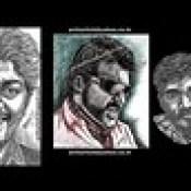 AJITHKUMAR Actor PortraitS in my Pen drawing by  Artist Anikartick,Chennai,Tamil Nadu,India.