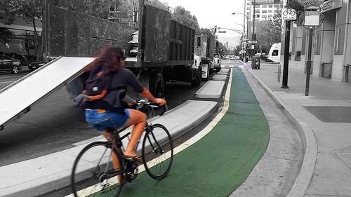 cycletrack San Fernando Street, San Jos CA