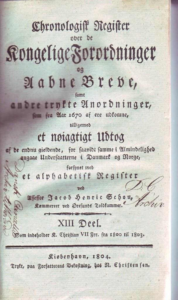 Kongelige forordninger 1804