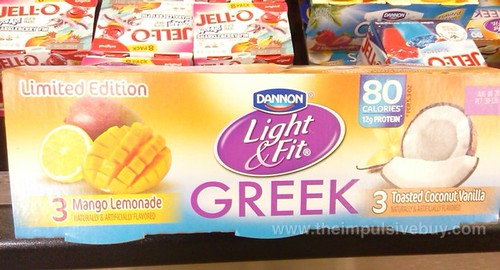 Dannon Light & Fit Greek Mango Lemonade and Toasted Coconut Vanilla