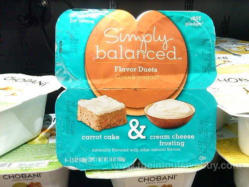 Target Simply Balanced Carrot Cake Cream Cheese Frosting Flavor Duets Greek Yogurt