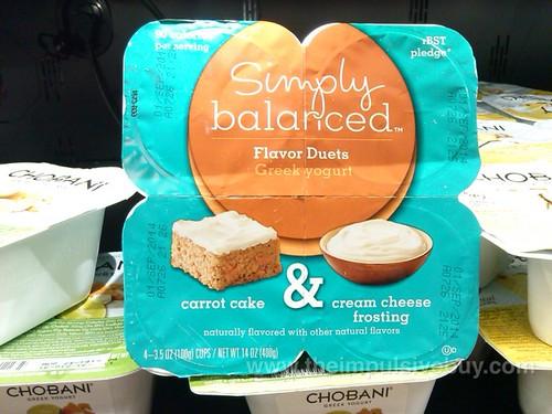 Target Simply Balanced Carrot Cake Cream Cheese Frosting Flavor Duets Greek Yogurt