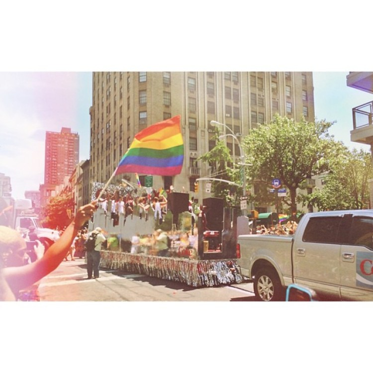 2 #sun - NYC Pride was very sunny! Such a great day full of smiles, happiness, love and pride! Would probably go back here just to experience that again!   #nycpride #prideparade #pride #happy #newyork #nyc #rainbow