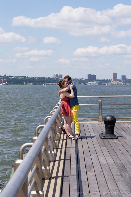 Couple at Chelsea Pier New York City