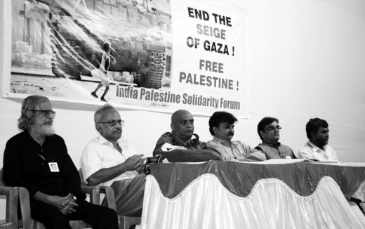 Speakers at the meeting.