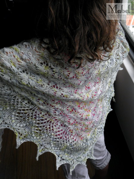 Thinking of Spring shawl in action