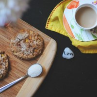 peach ginger scones - vegan