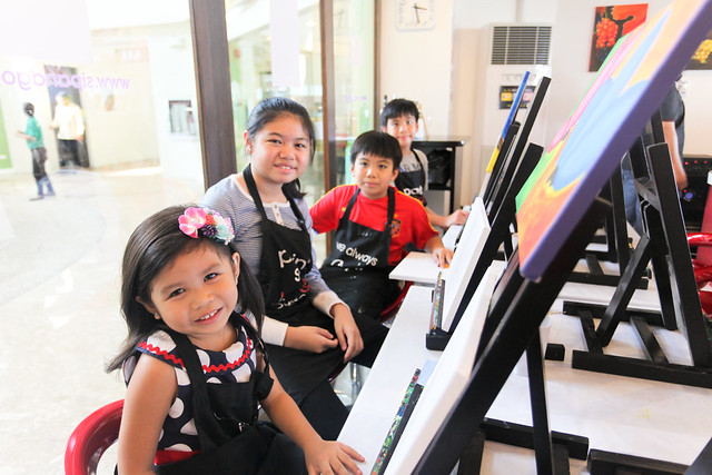 My nephews and nieces at Sip and Gogh