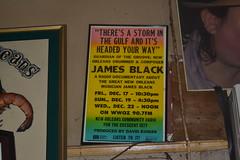 605 James Black Poster