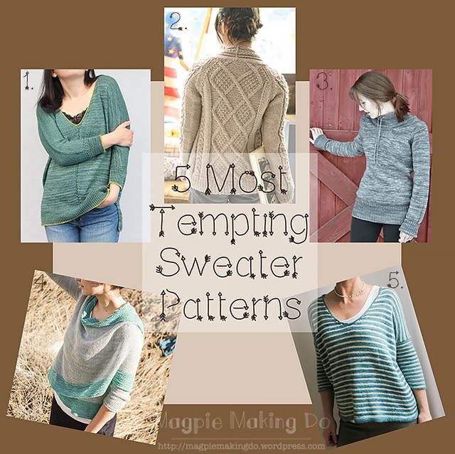 Sweater pattern collage