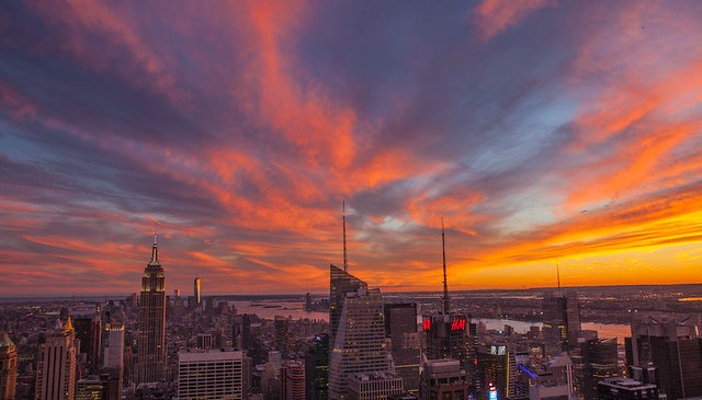 New York City Sunset September 14, 2014
