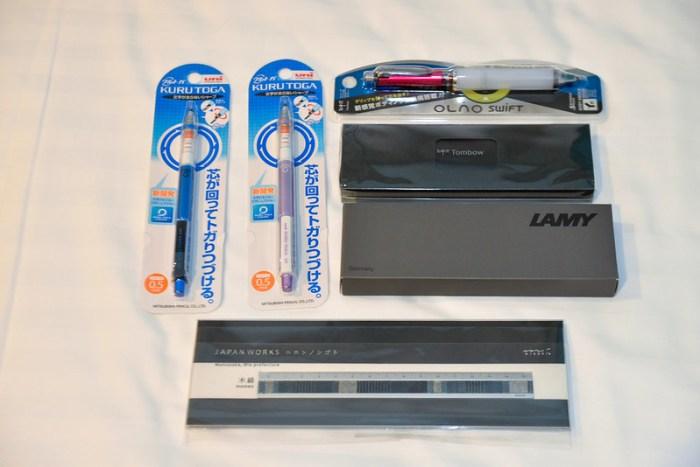 【文具們】Midori 日本名藝尺、LAMY 自動鉛筆、Tombow 自動鉛筆、三菱自動鉛筆