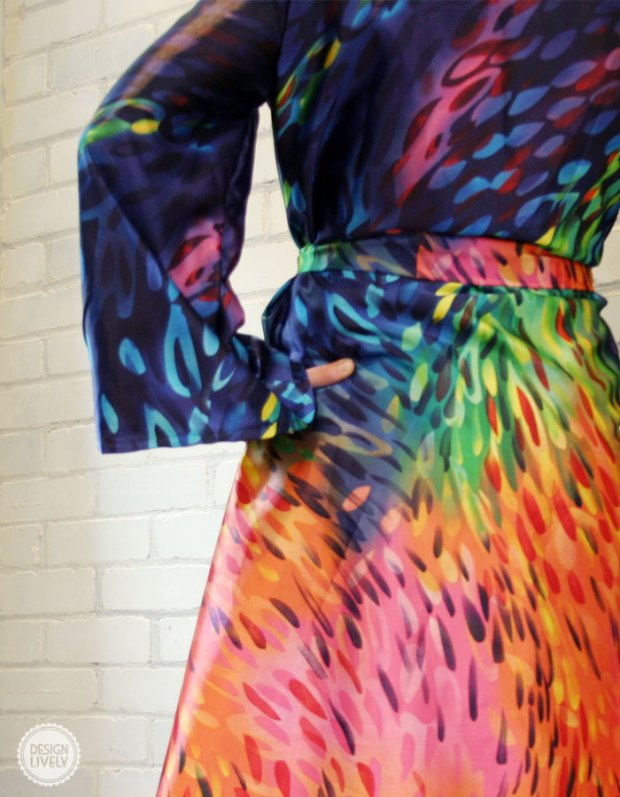 A Handmade Colorful Bathrobe (And My First Wearable Sewing Project!) DesignLively