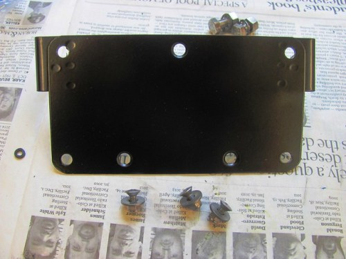 License Plate Bracket and Hardware