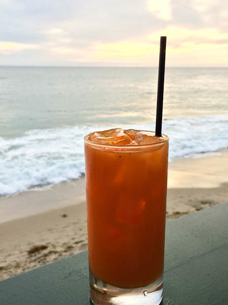 """I Can See Clearly Now"" - gin, carrot juice cocktail 