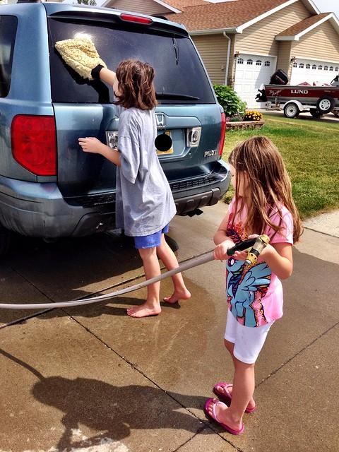 Car wash!  :)